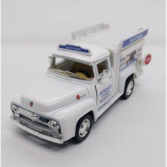 Miniatura Ford F100 1956 Ice Cream Carrinhos de coleção
