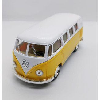 Miniatura Volkswagen Kombi Amarela Carrinhos de coleção