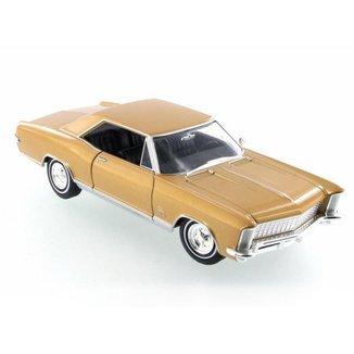 Miniatura Welly 1965 Buick Riviera Gran Sport Dourado 1/24