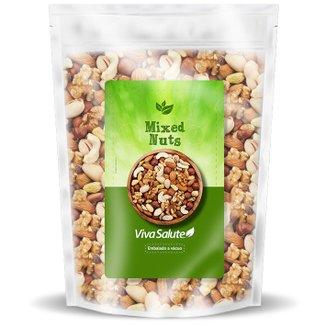 Mixed Nuts Premium Viva Salute Mix de Castanhas, Amêndoa, Uva Passas e Amendoim - 200g
