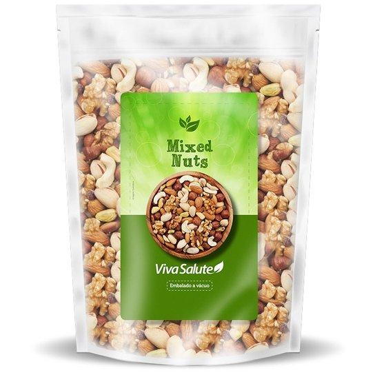 Mixed Nuts Premium Viva Salute Mix de Castanhas, Amêndoa, Uva Passas e Amendoim - 200g -