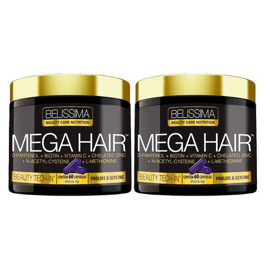 ML23 2X MEGA HAIR BELÍSSIMA - HAIR SKIN NAILS-CABELO PELE UN -