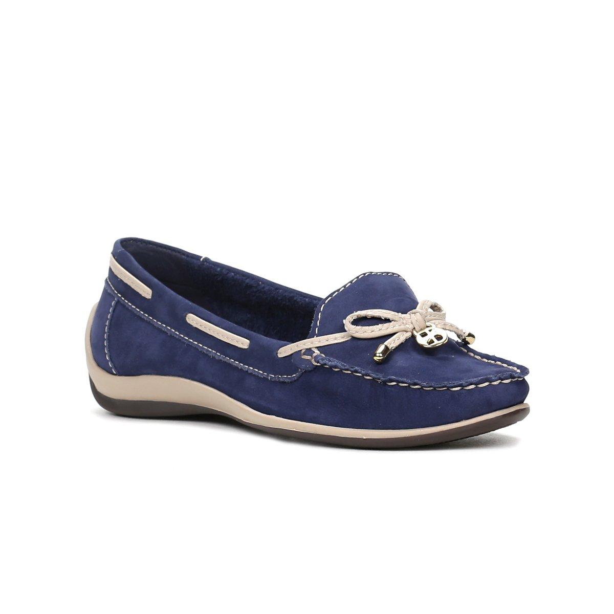 fd39ff7579 Mocassim Feminino Bottero Botocean Sider Azul bege - Compre Agora ...