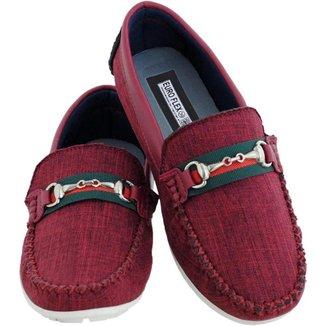 Mocassim Infantil Menino Macio Jeans Leve Confortável Kids