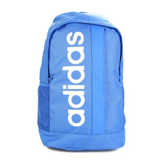 Mochila Adidas Linear Core - Azul+Branco