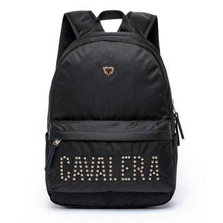 Mochila Cavalera Logo Fashion Acetinada Moderna