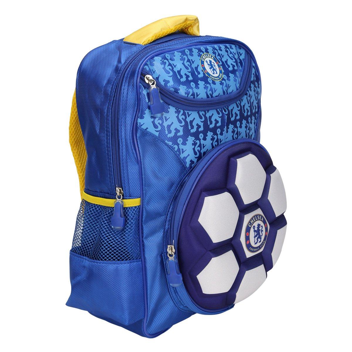 8bc479192c Mochila Chelsea Intantil Bola 3D - Compre Agora