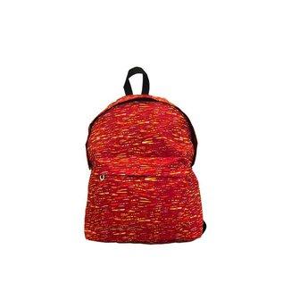 Mochila confortável vermelha e laranja