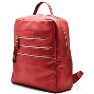 Mochila Couro  Hendy Bag para Notebook Femina
