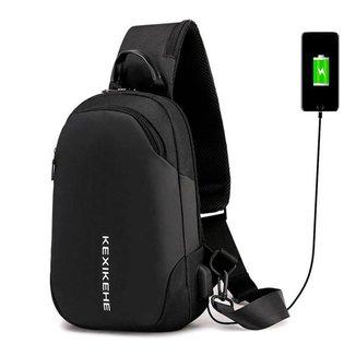 Mochila Cross Body USB Tablet Notebook