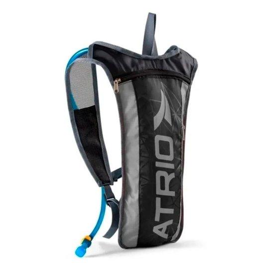 Mochila de Hidratação 1,5 Litros Sprint Com Alças Ajustáveis Bike Trilha - Cinza+Preto