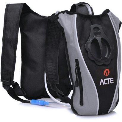Mochila de Hidratação ACTE C1 1,5 Litros para Ciclismo Slim Cinza