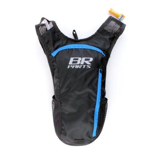 Mochila De Hidratação BR Parts Combat 2 Litros - Preto+Azul