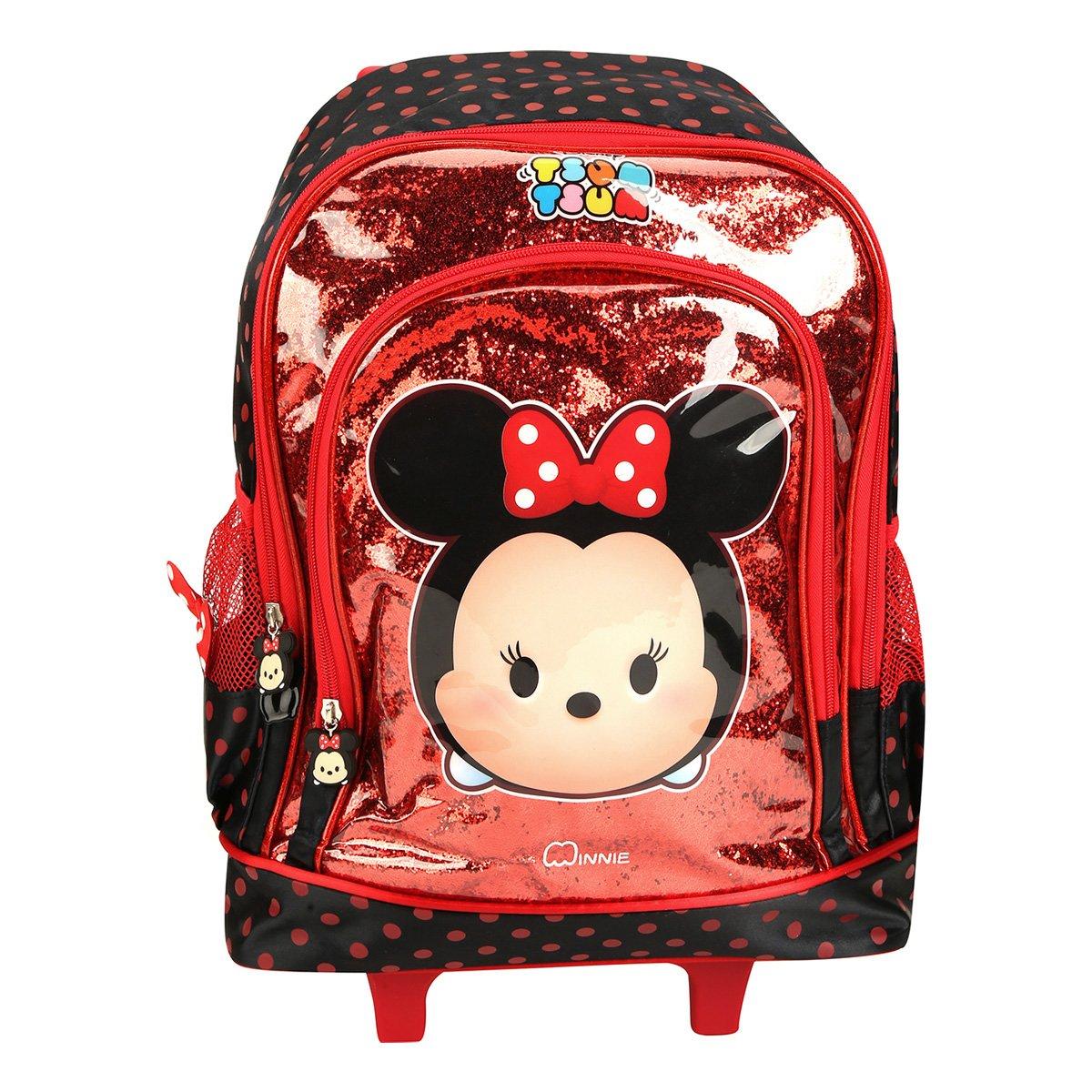 5f5890fc5 Mochila de Rodinha Infantil Escolar Luxcel Disney Minnie Tsum Tsum ...