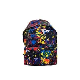 Mochila escolar confortável com bolso externo e zíper