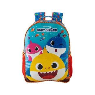Mochila Escolar Infantil Baby Shark Xeryus 9593 - AZUL - U