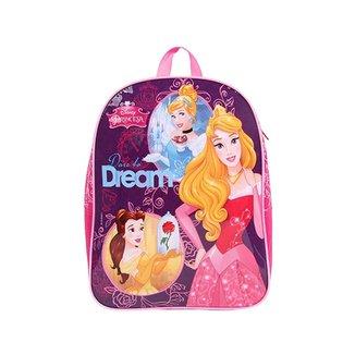 Mochila Escolar Infantil Feminina Princesas - ROSA PINK - U