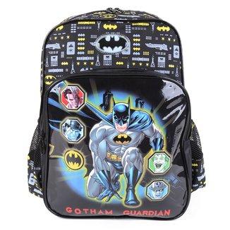 """Mochila Escolar Luxcel Batman 16"""" Masculina"""