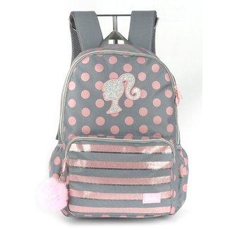 "Mochila Escolar Up4You Barbie Poás Porta Notebook 18"" Feminina"