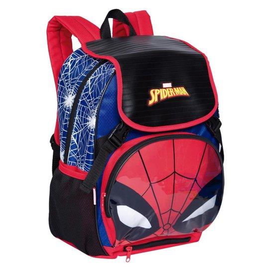 Mochila Grande Spiderman 19Z Infantil Sestini - Vermelho