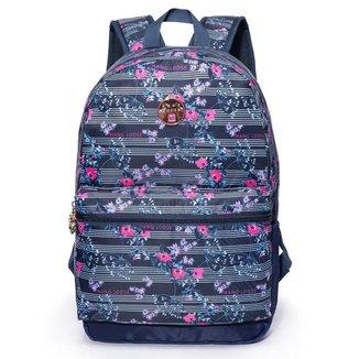 Mochila Hang Loose 17l Bolsa Reforçada Notebook 15 Azul