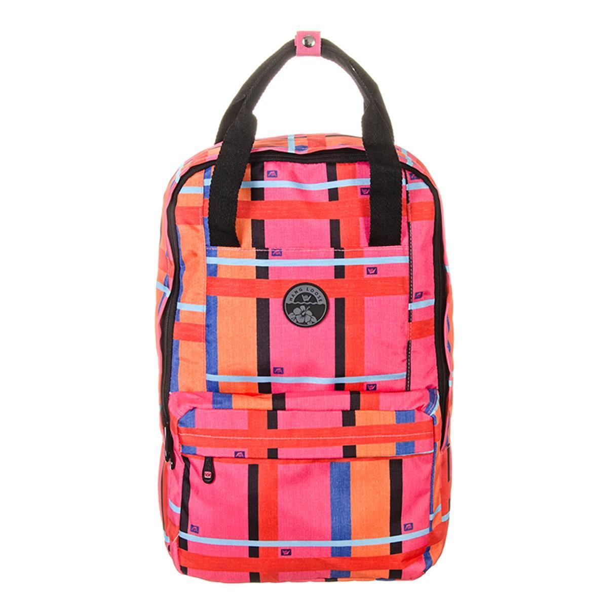 279b5e5cc2248 Mochila Hang Loose Check Girl Pink Laranja - Rosa Escuro e Laranja - Compre  Agora