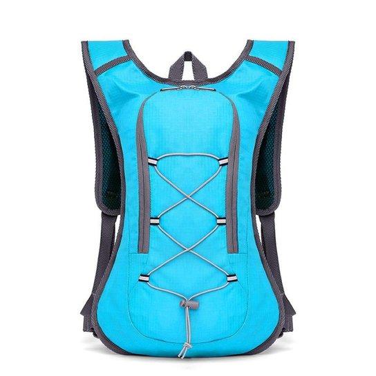 Mochila Hidratação com Bolsa de Água e Cintos Peitorais Yangfit - Azul