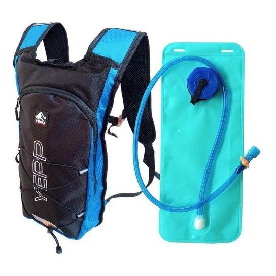 Mochila Hidratação Yepp Bolsa Água 2 Litros P/ Bike Corrida - Azul