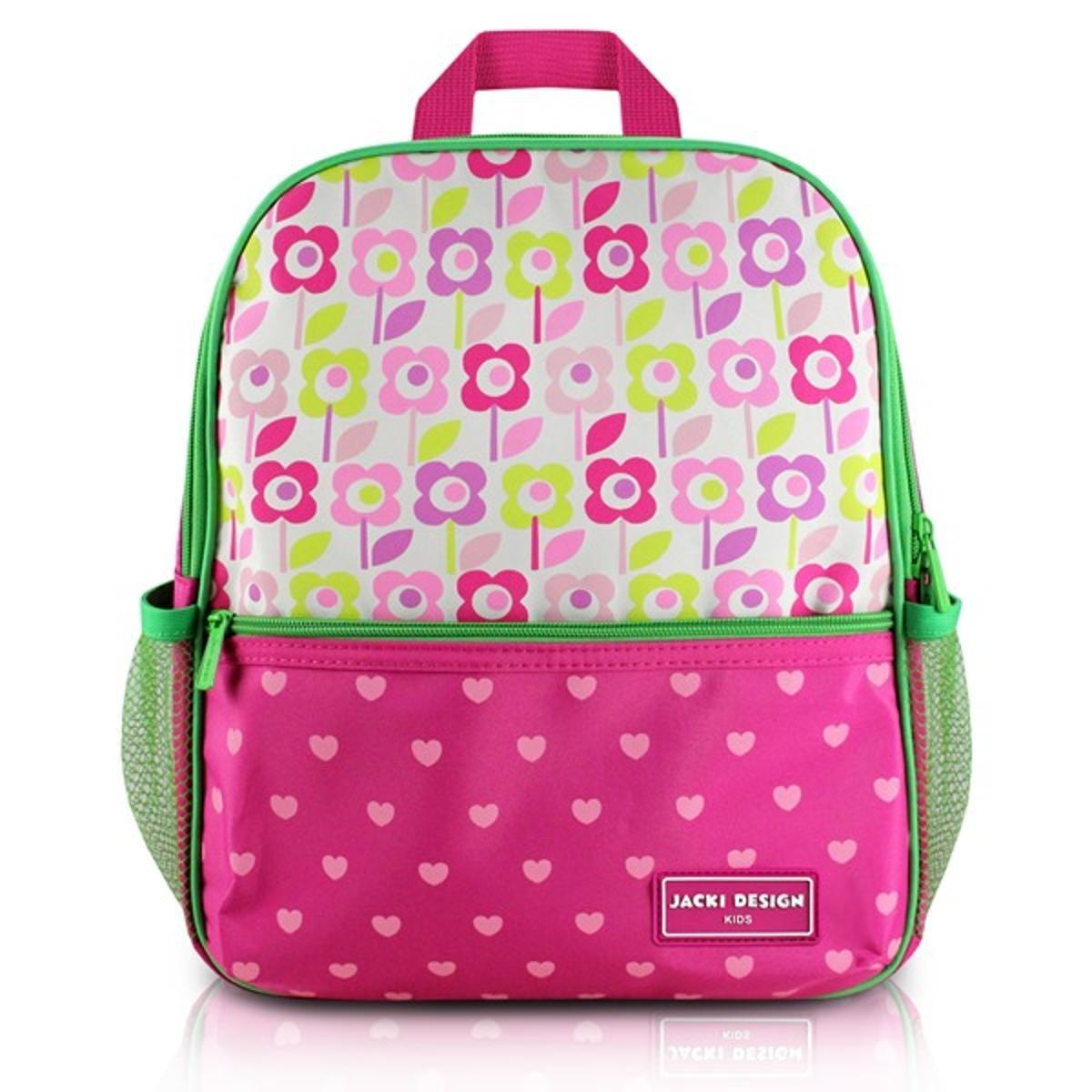 Mochila Infantil Escolar Jacki Design Flor Microfibra Feminina - Pink e  Verde - Compre Agora  1e59ab59871