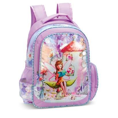 Mochila Infantil Flowe Fairy LS Bolsas C/ bolso frontal 2 bolsos laterais - Feminino