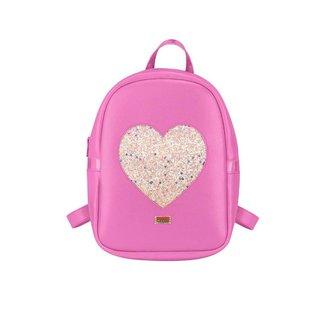 Mochila Infantil Napa Coração Molekinha - ROSA PINK - U
