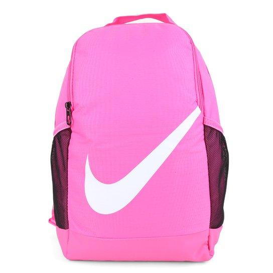 Mochila Infantil Nike Brasilia 18 Litros - Rosa+Branco