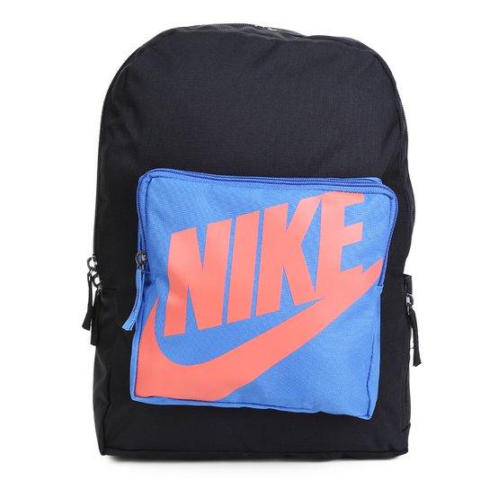 Mochila Infantil Nike Classic 16 litros - Preto+Azul