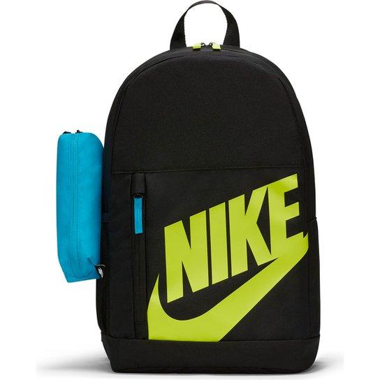 Mochila Infantil Nike Element - Preto+Azul