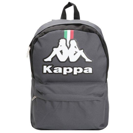 Mochila Kappa Itália Masculina - Chumbo+Preto