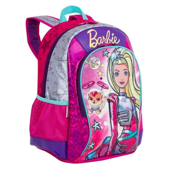 Mochila Média Barbie Aventura Nas Estrelas Infantil Sestini - Rosa