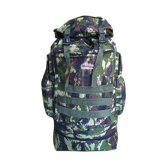 Mochila Militar Expansível Ajustável Fechamento por Cordão Camuflada Acampamento Camping Viagem Tril