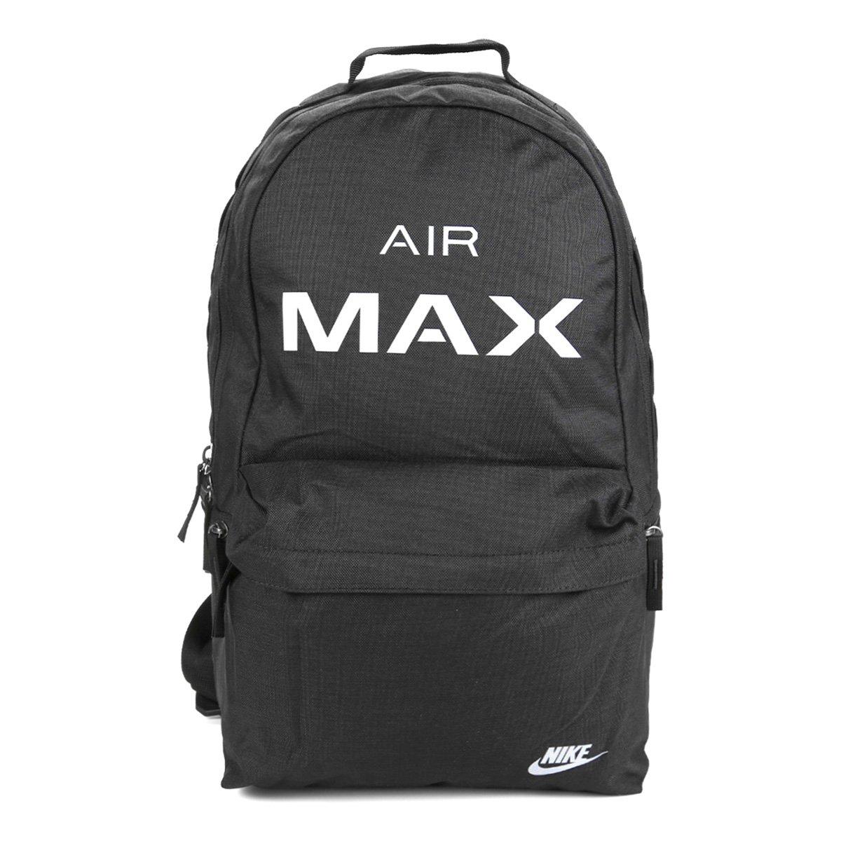 fd0b378520be4 Mochila Nike Air Max Estampada Masculina - Preto e Cinza - Compre Agora
