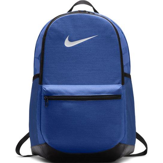 Mochila Nike Brasília M - 24 Litros - Azul+Preto