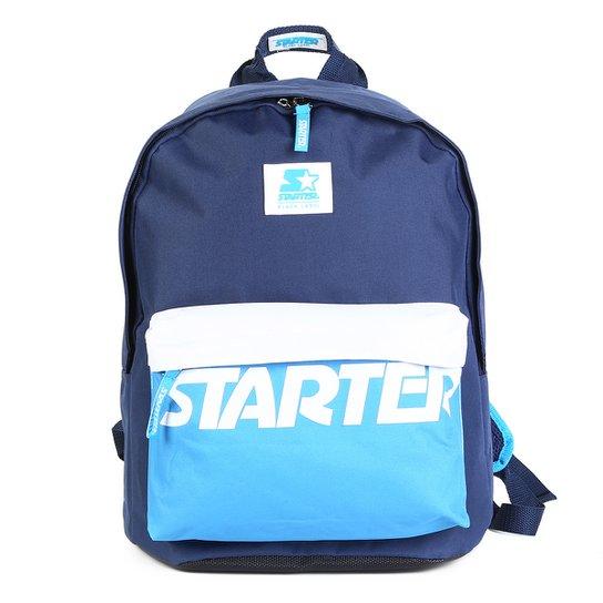 Mochila Starter Bolso Frontal Logo - Azul