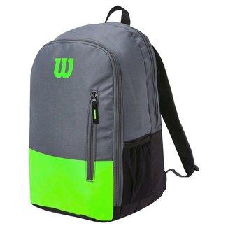 Mochila Team Verde e Cinza Modelo 2021 - Wilson
