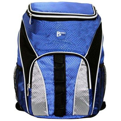 Mochila Termica Bolsa Cooler Fitness Marmiteira Lancheira Azul E Cinza