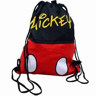 Mochila Tipo Saco Mickey 32x40cm - Disney