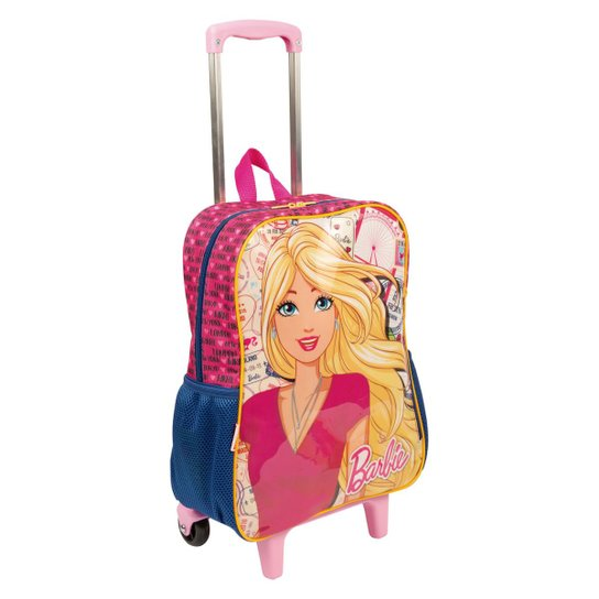 Mochilete Grande Barbie 19M Infantil Sestini - Rosa