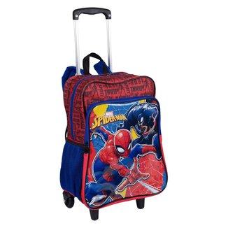 Mochilete Grande Com Bolso 2 Em 1 Spiderman 19M Plus Infantil Sestini