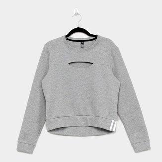 Moletom Adidas 3S Performance Sweetshirt Feminina