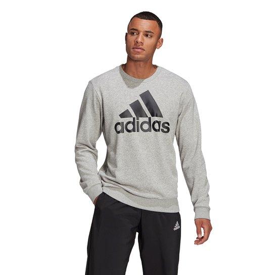 Moletom Adidas Adidas Masculino - Cinza+Preto