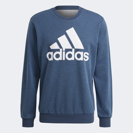 Moletom Adidas Adidas Masculino - Azul+Branco