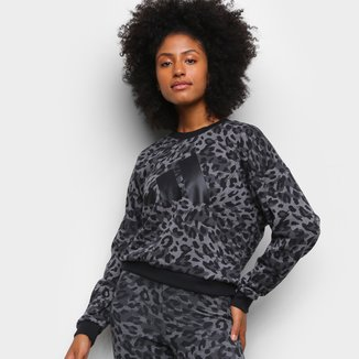 Moletom Adidas Animal Print Onça Feminino