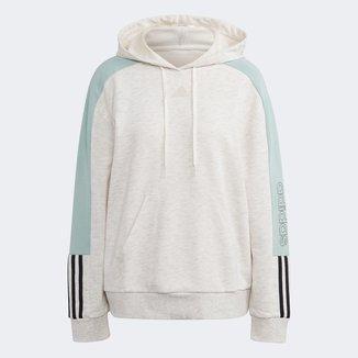 Moletom Adidas Capuz Colorblock Canguru Feminino